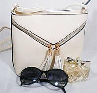Вместительная женская каркасная сумочка-клатч