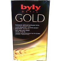 Восковые полоски для депиляции тела с золотом BYLY Depil Gold Hair Removal Strips Body