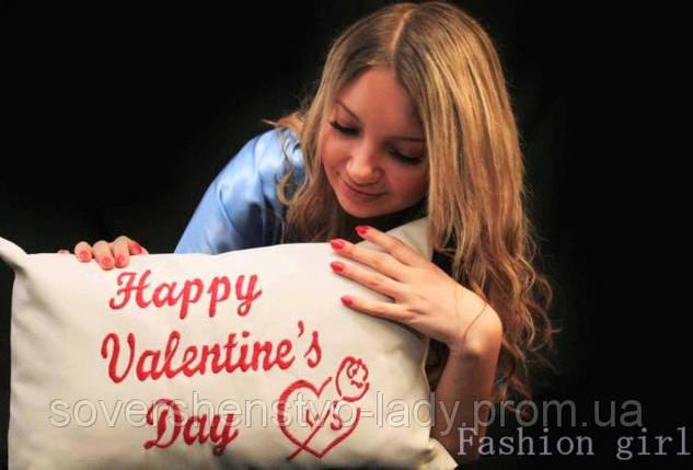 """Подарочная подушка """"Happy Valentine's Day"""", фото 2"""