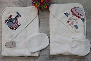 Уголок для купания полотенце для новорожденных Турция 75х75