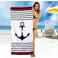 Пляжное полотенце 75*150 Якорь