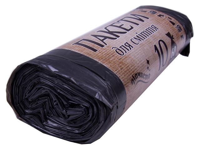 Мусорные пакеты 60 литров НАЧИСТО (10шт/22мкн)