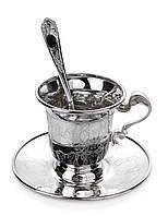 Серебряный чайный сервиз на 1 персону