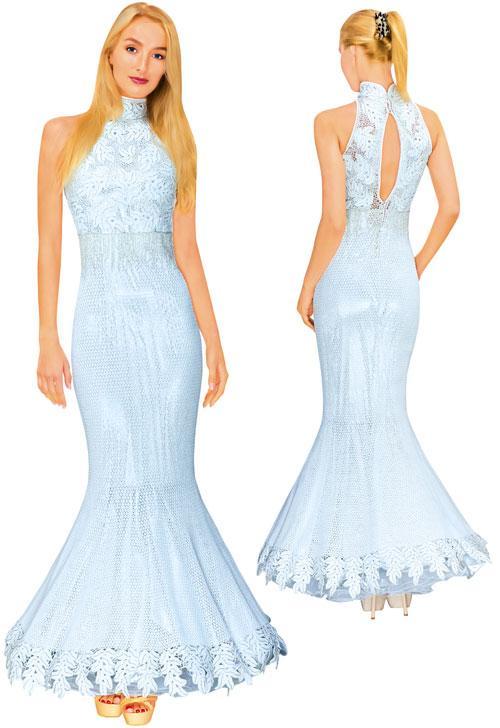 Платье нарядное белое расшитое бисером и стеклярусом
