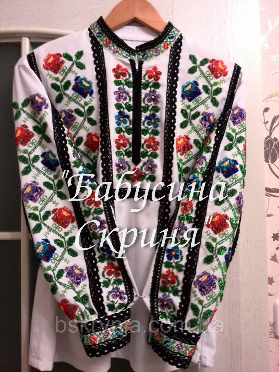 Заготовка Борщівської жіночої сорочки для вишивки нитками/бісером БС-57