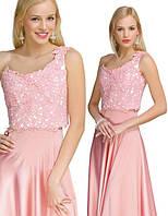 Лиф розовый для нарядного платья.