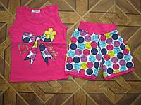 Детский  летний костюм Бантик для девочки    98- 128см   Турция хлопок