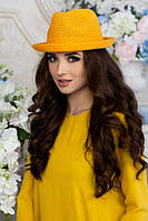 Соломенная шляпа-федора «Дарлин»