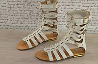 Летние сапоги  белые босоножки  римского стиля  Fenty premiale c 36-41р.