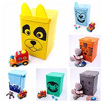 Ящик - корзина для хранения игрушек с крышкой 6 цветов (30*30*45)