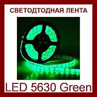 Лента светодиодная зеленая LED 5630 Green - 5 метров в силиконе!Акция