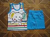Детский летний костюм майка и шорты слоник Филл для мальчика 3 года Турция