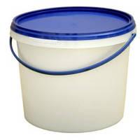 Ведро пластиковое для пищевых продуктов белое V=1000 мл(200 шт/ящик)