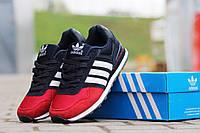 Женские кроссовки ADIDAS, замша + плотная сетка, красные с синим / бег кроссовки женские Адидас, стильные