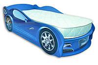 Яркая кровать- машина Ягуар, синяя