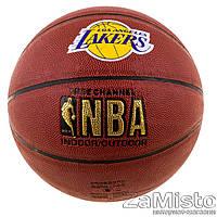 Мяч баскетбольный Spalding NBA Lakers №7 (BS0001)