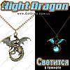 """Винтажное украшение - """"Glow Dragon"""" - светится в темноте"""