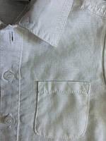 Белый льняной комбинезон мальчику. Рост 74 см (9 мес.)