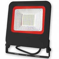 Прожектор светодиодный EUROELECTRIC LED-FL-50(black)new SMD чорный с радиатором NEW 50W 6500K