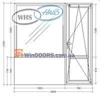 """Балконный блок ПВХ, WHS HALO, 5-этажка """"Хрущевка"""" 2100х2000 мм"""