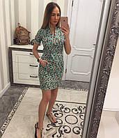 Женское молодежное платье из хлопка 1100