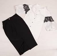 Костюм двойка блузка и юбка Честен