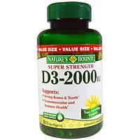 Natures Bounty, Vitamin D3, 2000 IU, 350 Softgels