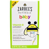 Zarbees, Нэчуралс, витамин D для малышей, 0,47 жидк. унц. (14 мл)
