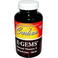 Carlson Labs, EGems, натуральный витамин Е, 100 МЕ, 250 капсул