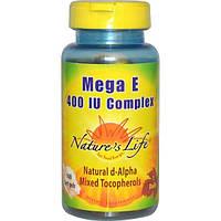 Natures Life, Комплекс Мега Е, 400 МЕ, 100 мягких желатиновых капсул