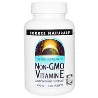 Source Naturals, Витамин Е, 400 МЕ, без ГМО, 120 таблеток