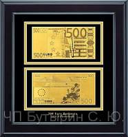 Панно Золотая банкнота  двусторонняя  500 EURO
