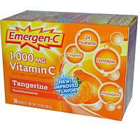 Emergen-C, Витамин C, Ароматизированная шипучка, мандарин, 1000 мг, 30 пакетиков по 9,4 г каждый