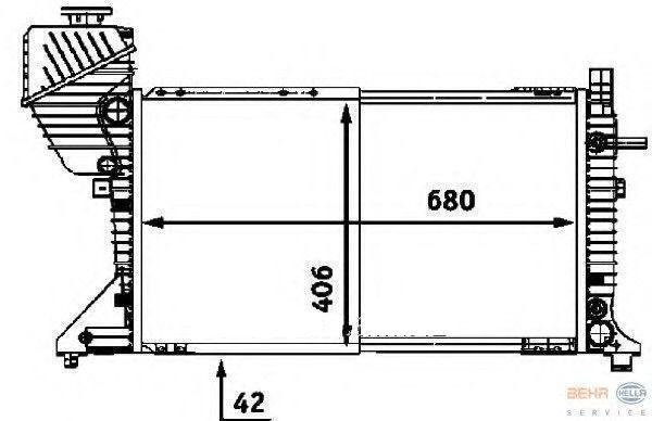 Радиатор охлаждения Mercedes Sprinter 2000-2006 (208-416 CDI механика) 680*400*33мм по сотах KEMP