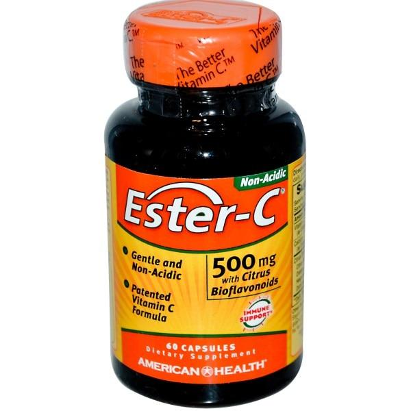American Health, Эстер-C, 500 мг +биофлавоноиды, 60 капсул