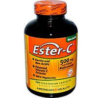 American Health, Эстер-C с биофлавоноидами цитрусовых, 500 мг, 240 капсул на растительной основе