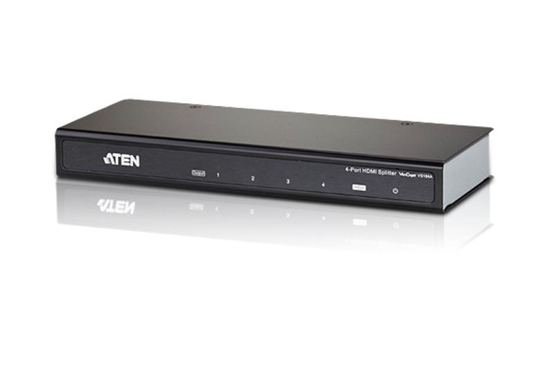 VS-184A 4-портовый HDMI каскадируемый видео / аудио разветвитель-усилитель
