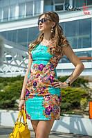 Платье выполнено из очень качественной турецкой ткани. На спинке завязывается шифоновый бантик.