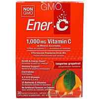 Ener-C, Витамин C, шипучий растворимый порошок для напитка со вкусом мандарина и грейпфрута, 30 пакетиков, 10,0 унций (283,5 г)