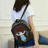 Стильный женский рюкзачок с шипами