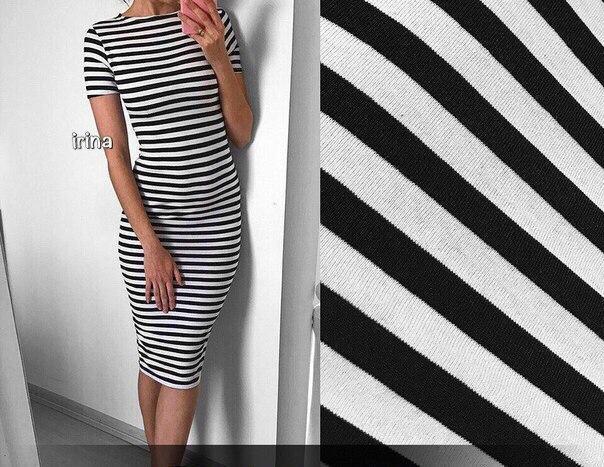 6d9ea769d16 Женское платье тельняшка (в полоску ) миди короткий рукав - Web-покупки  УСПЕХ -
