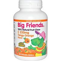 Natural Factors, Большие друзья, витамин C, c терпким апельсиновым вкусом, 250 мг, 90 жевательных пастилок