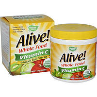 Natures Way, Alive!, Vitamin C, Powder, 120 g