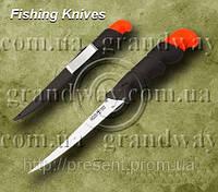 Нож рыбацкий 51013 прорезиненная рукоять