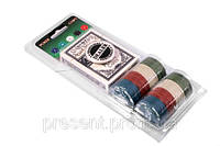 Покерный набор на 48 фишек в блистере карты цена!