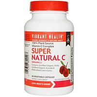 Vibrant Health, Super Natural C, версия 3.1, 60 растительных капсул