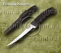 Нож рыбацкий 18208 прорезиненная рукоять