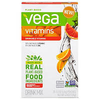 Vega, Смесь для приготовления напитков Vega, витамины, вкус грейпфрута и апельсина, 20 пакетиков, по 0,2 унции (6,8 g) каждый