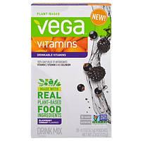 Vega, Питьевые витамины, смородина, ежевика, 20 пакетиков, по 0,2 унции (6,1 г) каждый