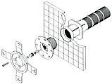 Прожектор галогенный Kripsol РEH101.С (100 Вт) под бетон, фото 5